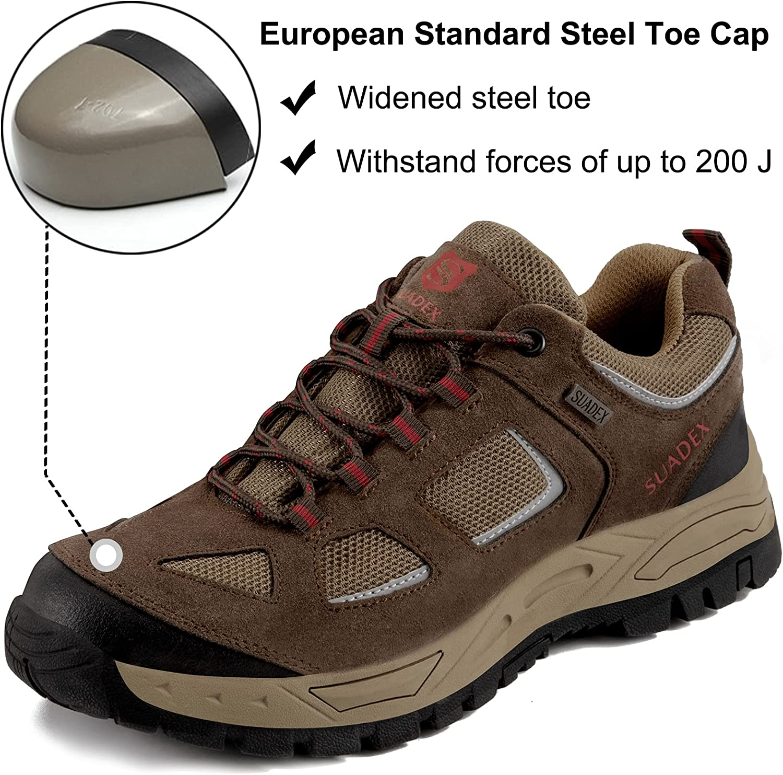 | SUADEX Steel Toe Sneakers for Men Slip Resistant Work Shoes Women Non Slip Indestructible Composite Toe Shoe | Shoes