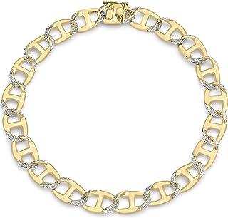 Carissima Gold 9 ct Yellow Gold Gents Diamond Square Curb Bracelet