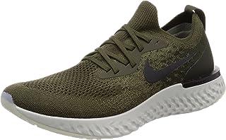 Nike Men's Epic React Flyknit, Cargo Khaki/Black-Sequoia