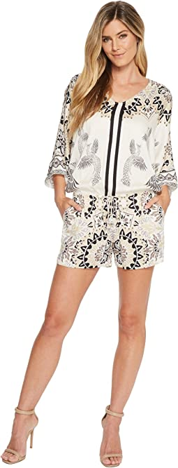 Hale Bob - Fierce Creatures Stretch Satin Woven Romper