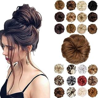 Hair Bun Messy Bun Hair Piece Thick Updo Scrunchies Hair Extensions Ponytail Hair Accessories for Women Ladies Girls Light...