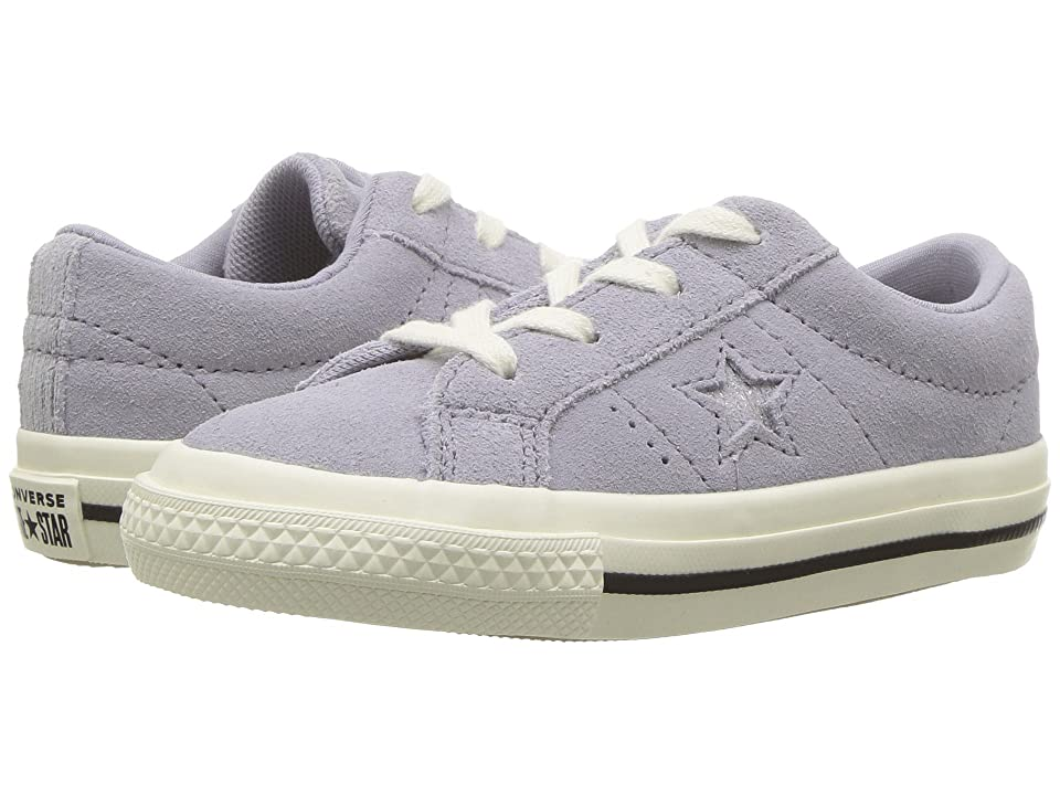 Converse Kids One Star Ox (Infant/Toddler) (Provence Purple/Silver/Egret) Girls Shoes