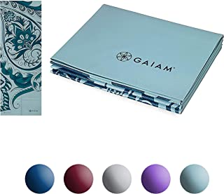 "Gaiam Yoga Mat - Foldable 2mm Travel Exercise & Fitness Mat Built-in Carrying Handle for All Types of Yoga, Pilates & Floor Exercises (68"" x 24"" x 2mm Thick)"