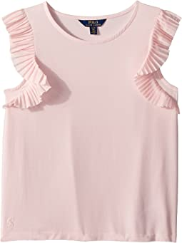 Flutter-Sleeve Jersey Top (Little Kids/Big Kids)