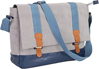 Waterproof Crossbody Shoulder Bag School Students Satchel Casual Daily Tool Messenger Bag for Women and Men (Light Grey)