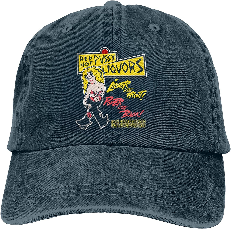 Red Hot Pu-SSY Liq-Uor Cowboy Hat Cotton Adjustable Washable Retro Baseball Cap