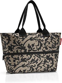 reisenthel Shopper E1, Expandable 2-in-1 Tote, Converts from Handbag to Oversized Carryall, Baroque Taupe