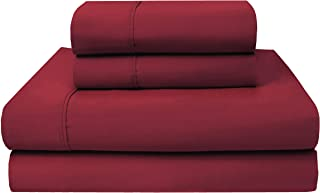 Ultimate Percale 400 Thread Count 100% Cotton Sheet Set,4 Piece Set,Bestselling Queen Sheets Percale Weave,Classic Z-Hem,Super Soft Finish,Fitted Sheet Fits Upto 17