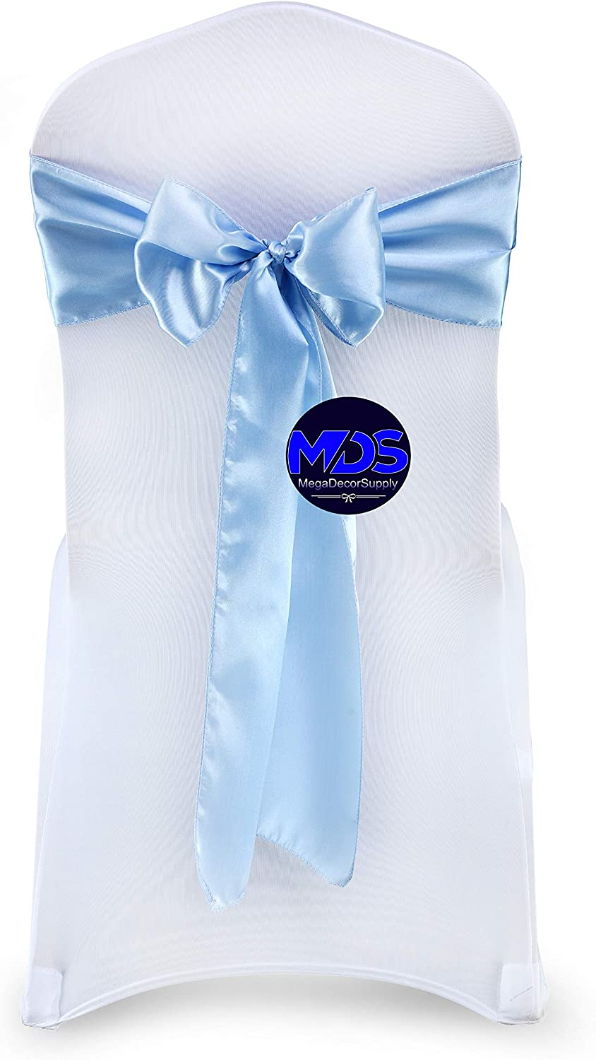 mds Pack of Courier shipping Miami Mall free 100 Satin Chair Sashes Wedding for Bow and sash Even