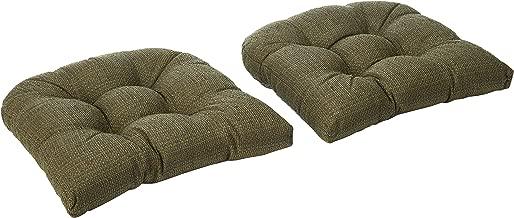 Klear Vu Tyson XL Overstuffed Fabric Cushion Large Chairs, 17 x 17, Single Pad, Green