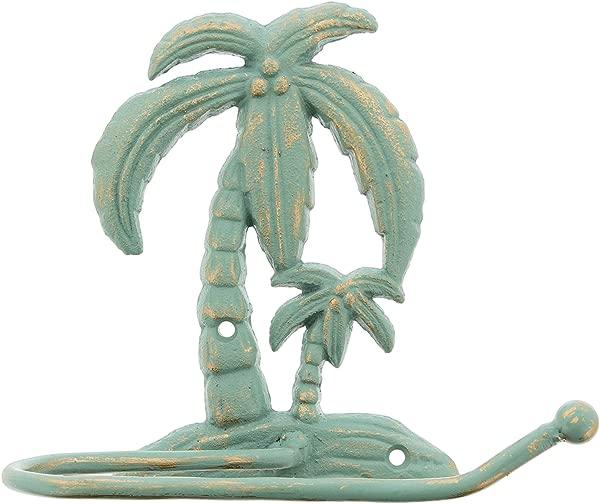 The Bridge Collection Cast Iron Palm Tree Toilet Paper Holder
