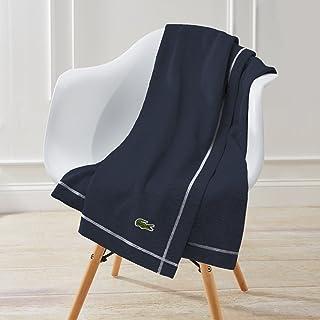 Lacoste Fleece Throw Blanket, 50x70, Navy