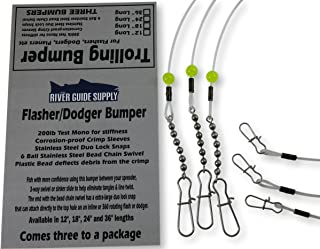 River Guide Supply Trolling Bumper for Trolling Flashers & Dodgers 3 Pack
