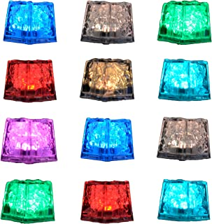 (12 Pack) PIXI Creations Light Up Ice Cubes For Drinks. Each Glow In The Dark Ice Cubes Has On/Off Switch With 7 Color Modes. Enjoy Multiple Events With These Long-lasting LED Ice Cubes For Drinks