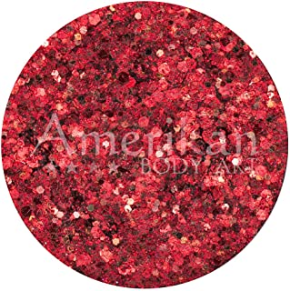 Amerikan Body Art Glitter Creme - Cosmos (10 gm), Cosmetic Polyester Glitter in Creamy Base, Great for Face Paint, Glamour...