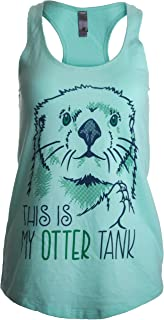 This is My Otter Tank | Cute Otter Lover Top, Women's Racerback Workout Tank