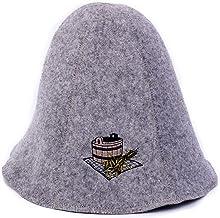 Ger3as Bonnet de Sauna, Hat de laine avec broderie pour homme et femme, casquette de bien-être (Baignoire sauna)