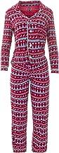 KicKee Womenswear Print Long Sleeve Collared Pajama Set   Winter Celebrations 2019 Collection  