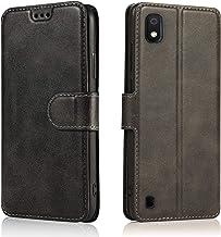 LeYi Cover per Samsung Galaxy A10 con HD Pellicola Protettiva, Custodia Flip Pelle Libro Silicone TPU Bumper Portafoglio Full Skin Fondina Morbida Scocca Antiurto Case per Smartphone A10, Nero