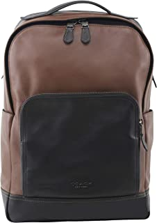 Men's Graham Backpack in QB/Saddle Logo Full Grain Leather Laptop Pocket, Style F37599