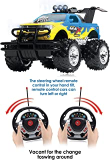 Rechargeable Remote Control Car with a Motion Sensor Steering Wheel Remote for Boys and Girls, RC Car with Powerful Sound, Hobby Toy Race Cars, Electric Cars for Kids and Adults 6+, Lightweight