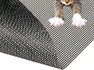 """Pet Proof Window Screen Replacement kit, 60"""" x 100"""" Upgraded Thicken Charcoal Fiberglass Mesh for Sliding Pet Screen Door Repair Kit - Screen Door Protector for Dogs Patio Screen mesh, Tooltriz"""
