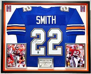 Premium Framed Emmitt Smith Autographed/Signed Florida Gators Jersey - GTSM HOLOGRAM COA