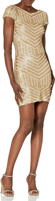 Dress the Population Washington Mall Women's Tabitha Cap Dres Free shipping on posting reviews Sleeve Mini Sequin