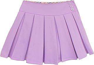 Bienzoe Girl's Classical Pleated School Uniform Dance Skirt