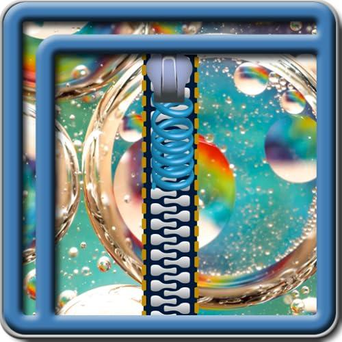 Zipper Lock Screen Bubbles