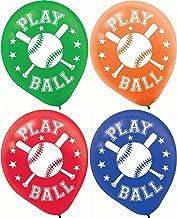 Baseball Latex Balloons Party Accessory