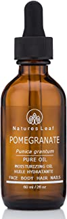 Pomegranate Seed Oil by Natures Leaf /Unrefined Organic / 100% Pure Cold Pressed / Rich In Omega 5 Fatty Acids and Anti-Ox...