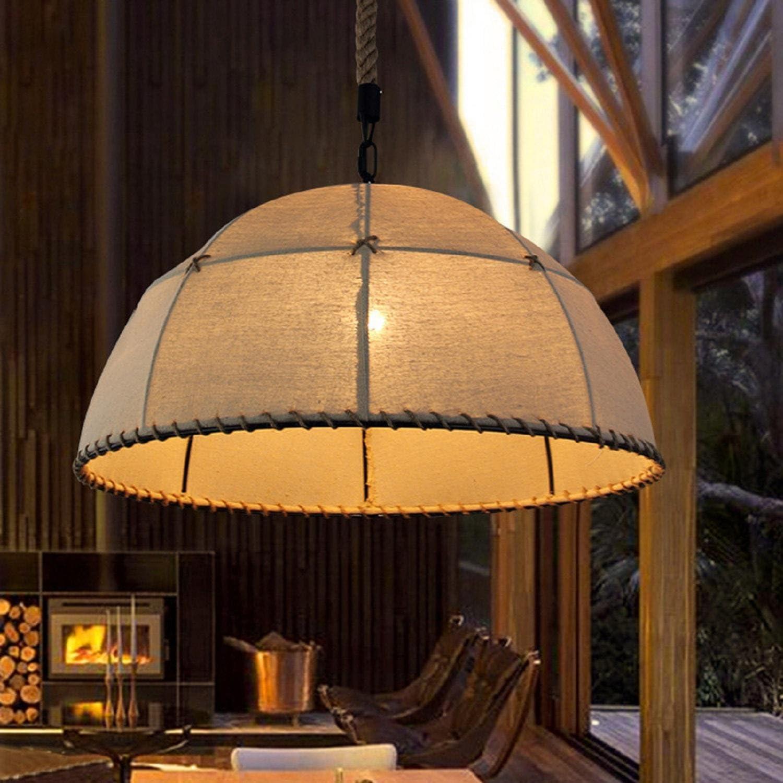 AMZH Retro-Eisen Hanf Seil Leinen Kronleuchter Restaurant Bar Korridor Pendelleuchten Heimwerker Bekleidungsgeschft Beleuchtung