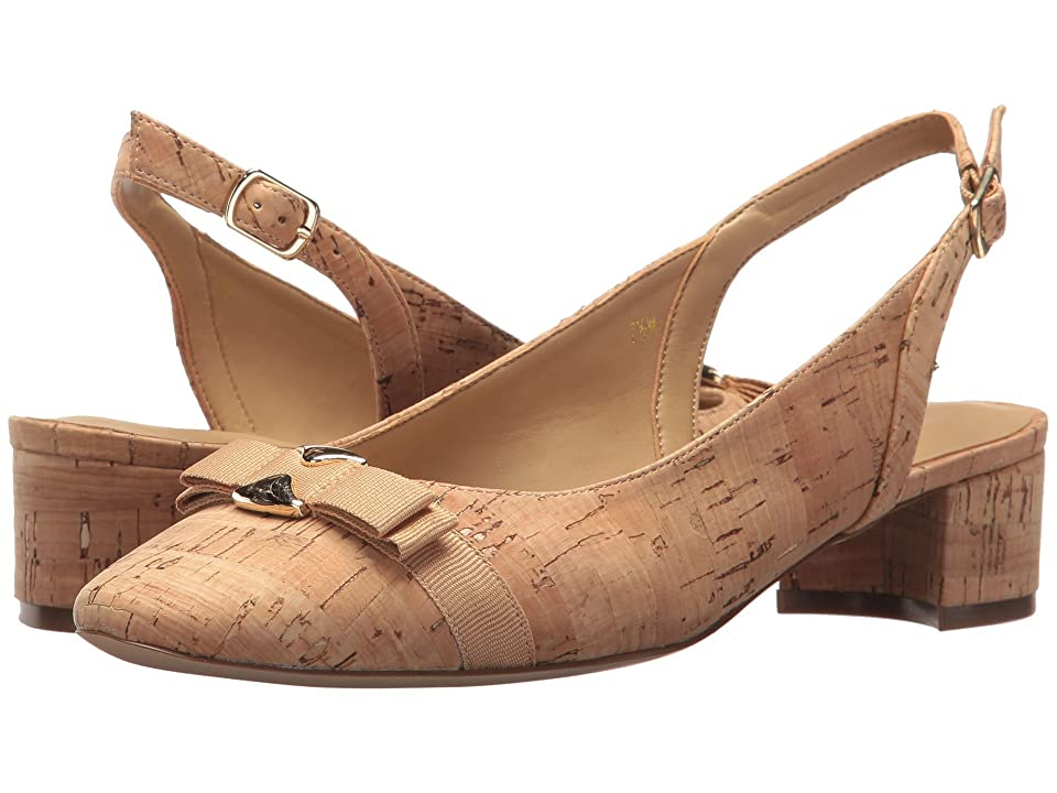 Vaneli Aryn (Natural Cork/Natural Grosgrain/Gold Trim) Women