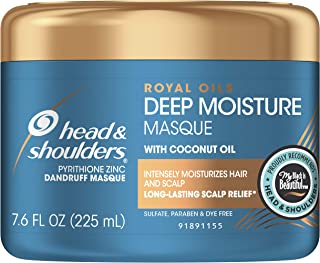 Head and Shoulders Deep Moisture Masque Conditioner Treatment, Anti Dandruff and Scalp Care, Royal Oils Collection with Co...