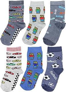TupTam, Calcetines Estampados de Colores para Niños, 6 Pares