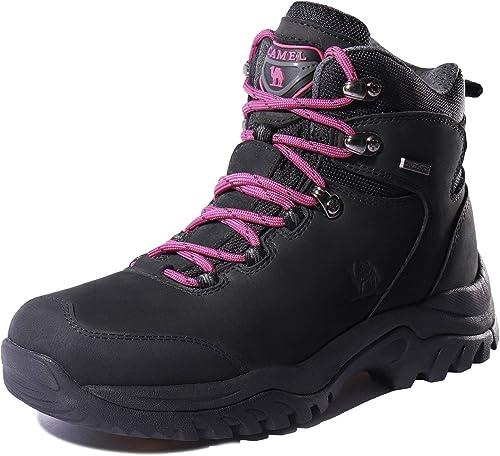 CAMEL CROWN Chaussures Montants Femme Randonnée Tige Haute Imperméable Adventurer - Ajoutent Adhérence, Idéales pour Le Trekking et Les ProHommesades