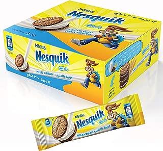 Nesquik Biscuits Milk Cream, 28 gm (Pack of 12)