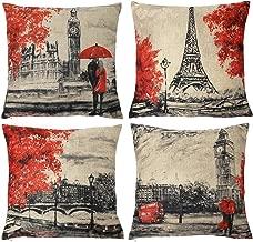 NYKKOLA Soild Soft Velvet Linen Throw Pillow Covers Set, Decorative Pillowcase Cushion Cover for Sofa Bedroom Car 18 x 18 Inch 45 x 45 cm (Style 24)