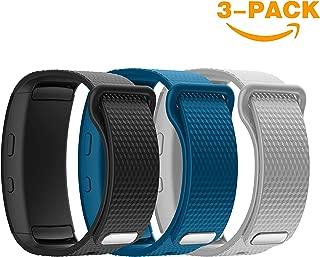 Cyeeson Bracelet de remplacement souple en silicone pour montre intelligente Samsung Gear Fit 2/SM-R360