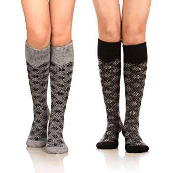 1 Pair Womens Fleece Lined Brushed Knee High Socks One Size Various Colors!!