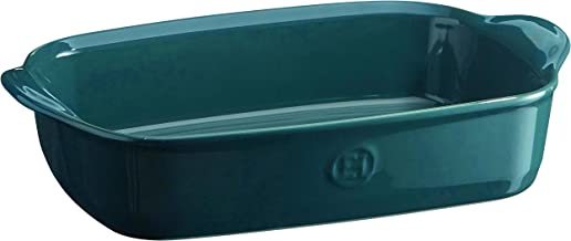 Emile Henry 979650 France Ovenware Ultime Rectangular Baking Dish, 11.4 x 7.5, Blue Flame