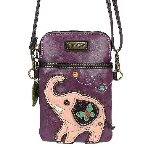 Chala Crossbody Cell Phone Purse - Women PU Leather Multicolor Handbag with  Adjustable Strap 749428438fa4