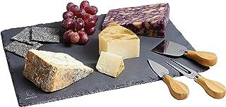 Master Class–35x 25cm), artesa Slate tabla de cortar con cuchillos para queso de acero inoxidable