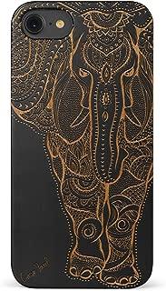 iPhone 8 Case, CaseYard [ Wood Series ] Slim Fit Hybrid Case for Apple iPhone 8,Lightweight Premium Made in California (Black) - Big Elephant