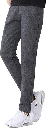 SEEU Pantaloni sportivi invernali da donna, con coulisse, foderati, 2 tasche
