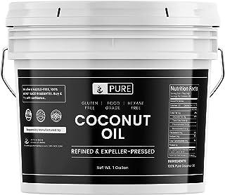 100% Refined Coconut Oil (1 Gallon) Hexane-Free & Gluten-Free, Expeller-Pressed & Non-Hydrogenated, Vegan, Paleo & Keto Fr...