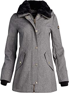Jessica Simpson Women's Soft Shell Hooded Jacket with Faux Fur Collar