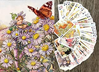 Flower Fairy Playing Cards (Poker Deck 55 Cards All Different) Flower Fairy Cicely Barker Vintage Photo Book Illustration