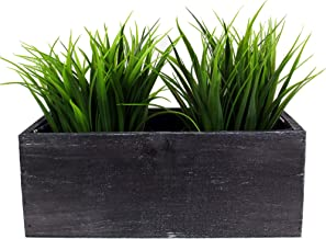 CYS EXCEL Indoor Black Planter Box, Available, Wood Planter, Decorative Box, Succulent and Floral Arrangements, Box with Removable Plastic Liner, H:4